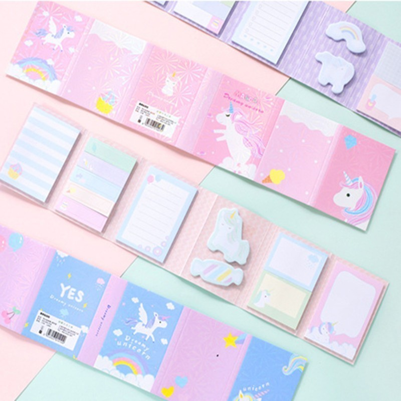 Cute Decorative Memo Pad Kawaii Cartoon Notepad Creative Office Planner Stickers Sticky Notes School Stationary Supplies 02121