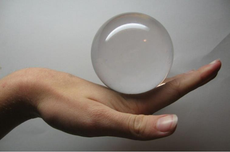 100mm(10cm) Ultra Clear Acrylic Transparent Ball (Contact Juggling) Magic Tricks Magician Stage Street Illusions Gimmick Magia
