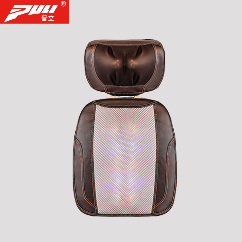 PULI Electric Kneading Heating Massage Cushion Spine Thai Open Back Massager Neck Back Cervica Massage Cushion tie neck open back ruffle trim striped top