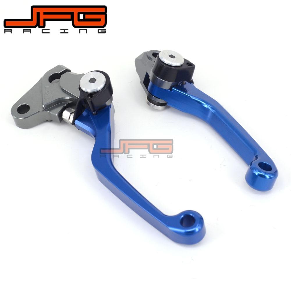 Blue CNC Aluminum Billet Pivot Foldable Brake Clutch Levers For Yamaha WR250F WR450F 05-15 Motocross Motorcycle Dirt Bike cnc adjustable motorcycle billet foldable pivot extendable clutch
