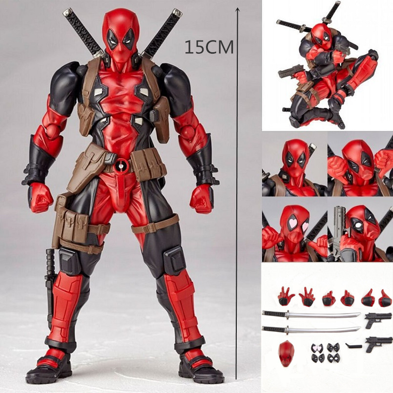 Marvel Legends Red Deadpool 6 inch action figure Chinese KO Version