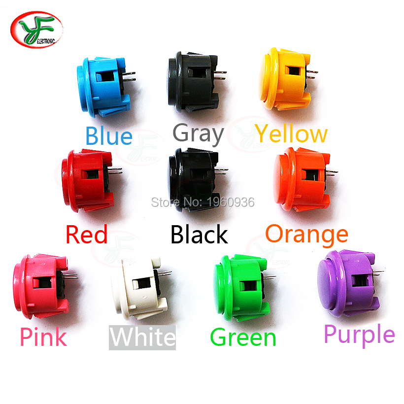 Free shipping OEM  30mm & 24 mm push button copy sanwa push button DIY Arcade fighting game kit