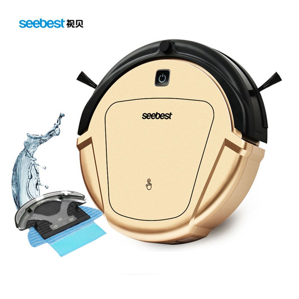 Seebest Robot D750 Vacuum Cleaner Dry and Wet Mop Vacuum Cleaner robot with Water Tank and GPS Zigzag Clean Route