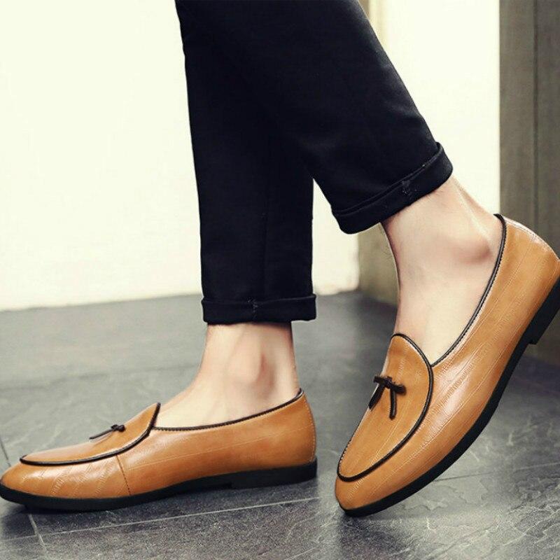 7baa40f497c Masculina 2 Zapatos Moda 3 De Mujer 4 Vestir Casual Soles Cuero Slip  Genuino En Del ...