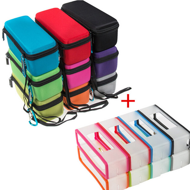 imágenes para Factory Outlet Moda EVA Semi-duro Carry Case + cubierta Suave de la piel para Bose Soundlink Mini/Mini 2 Altavoz Del Bluetooth sin hilos