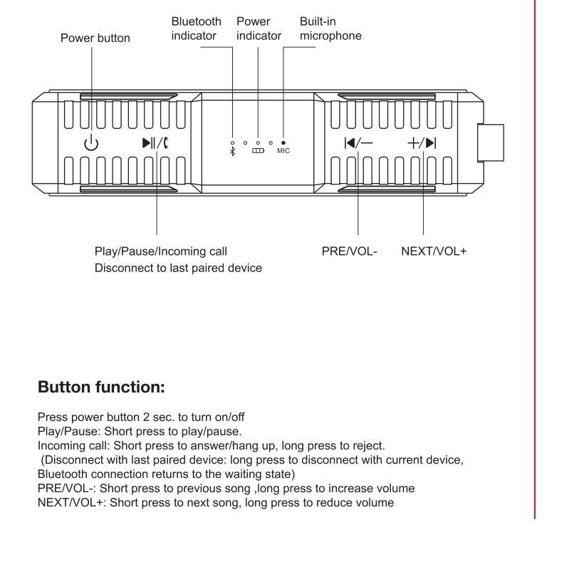 Nillkin Altavoz Bluetooth Inalámbrico Banco de Potencia Caja de - Audio y video portátil - foto 3