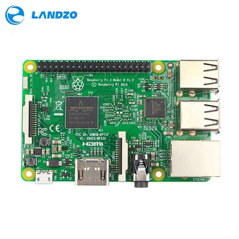 Raspberry pi 3 modelo b placa-mãe 1 gb lpddr2 bcm2837 quad-core ras pi3 b, pi 3b, pi 3 b com wi-fi & bluetooth