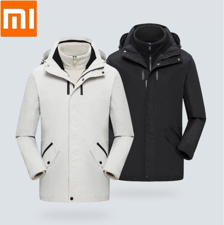 Xiaomi ULEEMARK Mid-length Travel Jacket Removable Multifunctional Storage Windproof And Waterproof Outdoor Climbing Coat 11