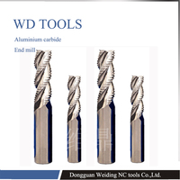 long tool life 2pc HRC55 4mm/6mm/8mm/10mm/12mm 4 Flute Roughing end mill Spiral Bit Milling Tools CNC Endmills Router bits