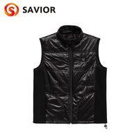 Savior heated vest riding outdoor sports working carbon fiber heating health care smart 3 levels control blue man women cloth