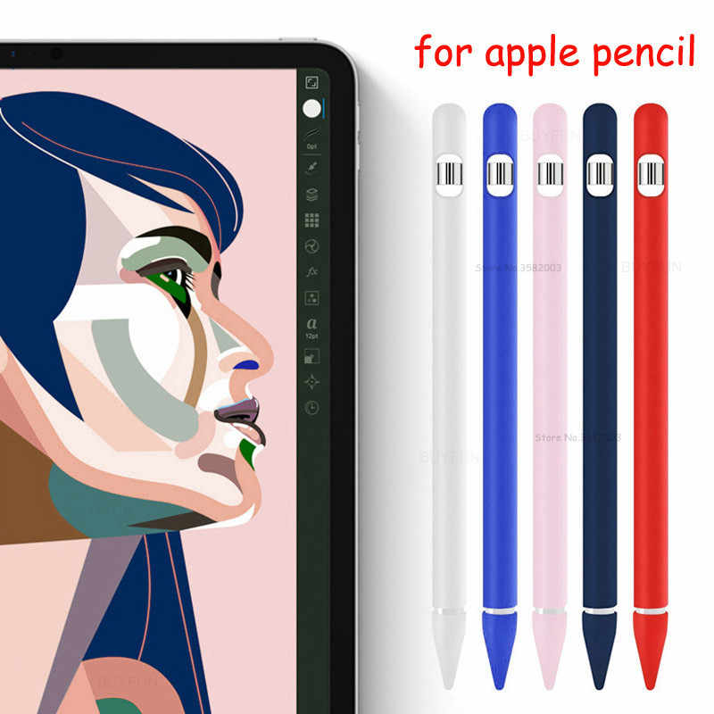 Funda de silicona para apple Pencil soporte protector a prueba de golpes estuche funda bolsa para apple iphone IPencil Pen 1nd 2nd