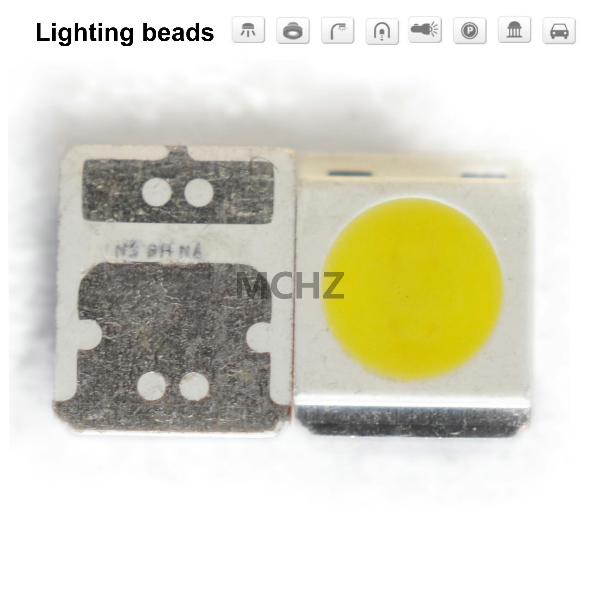 100pcs/lot SMD LED SEOUL 3528 3030 2835 1W 2W 3W White And Warm White Lamp Beads Highlight 3V-3.6V 700MA 5000-5500K