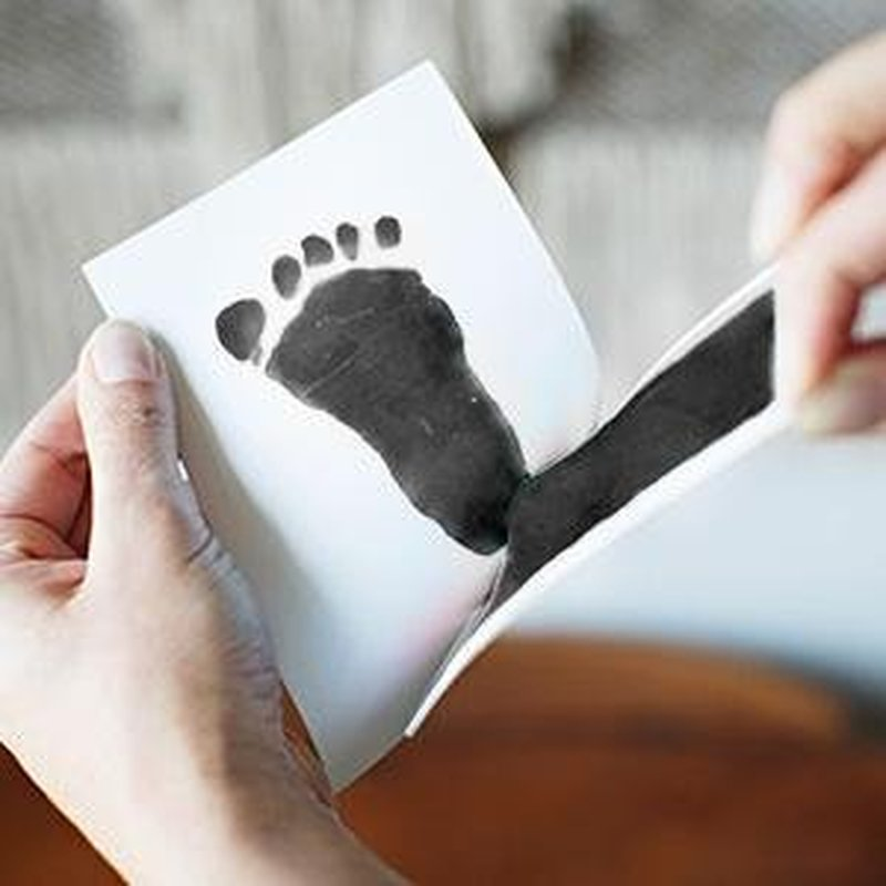2018 Hot Sale Baby Handprint Footprint Non-Toxic Newborn Imprint Hand Inkpad Watermark Infant Souvenirs Casting Clay Toys Gift