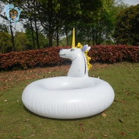 110cm Inflatable Swimming Ring Unicorn Inflatable Horse Pool Float Adult Sea Air Mattress Pool Inflatable Toy Water Swim Circle