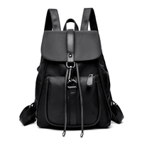 Women PU Leather+Nylon School Backpacks for Teenage Girls High Quality Shoulder Bags Large Capacity Travel Bag pack Bookbags