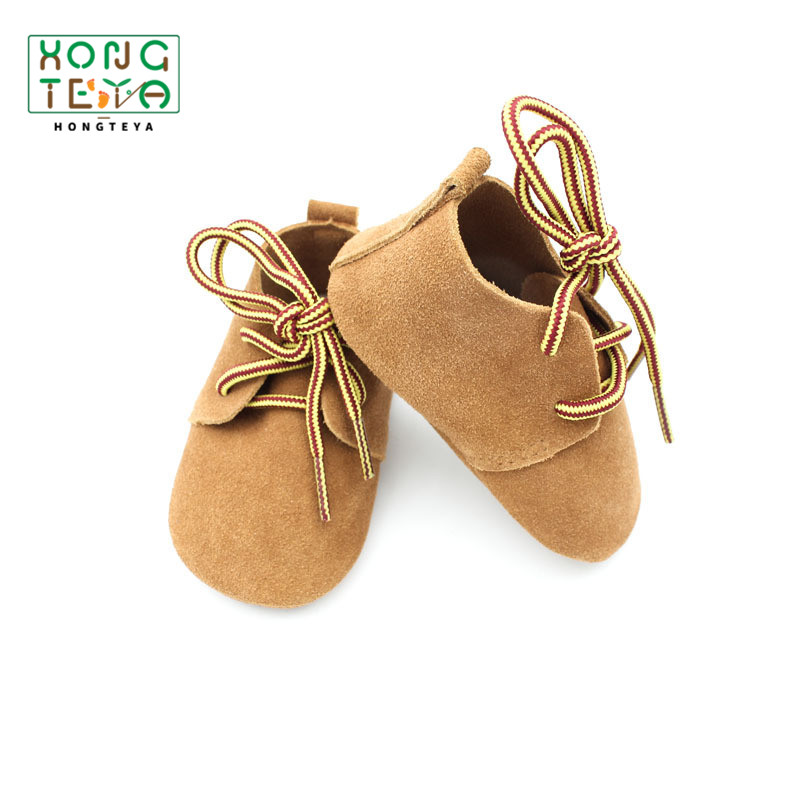 Genuine Leather Baby Boys Shoes Lace-up Casual Shoes Infant Toddler Bebe Soft Bottom First Walkers Anti-slip SuedeBaby Moccasins