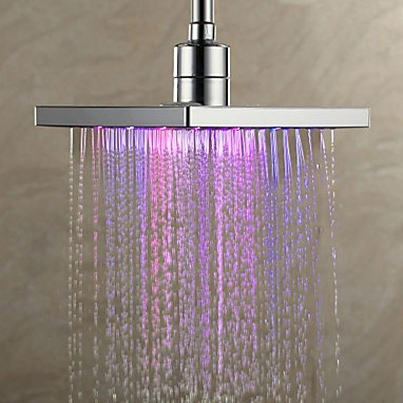 Cabezal de Ducha de ba/ño de Agua con luz rom/ántica LED de 7 Colores Outbit Cabezal de Ducha con luz LED de 7 Colores