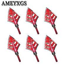 6/12 Pcs 2 Arrowheads Lâmina Fixa 120 Grain Screw In Cabeças de Seta Seta Dicas Ponto Para Flecha ao ar livre Caça Tiro Acessórios