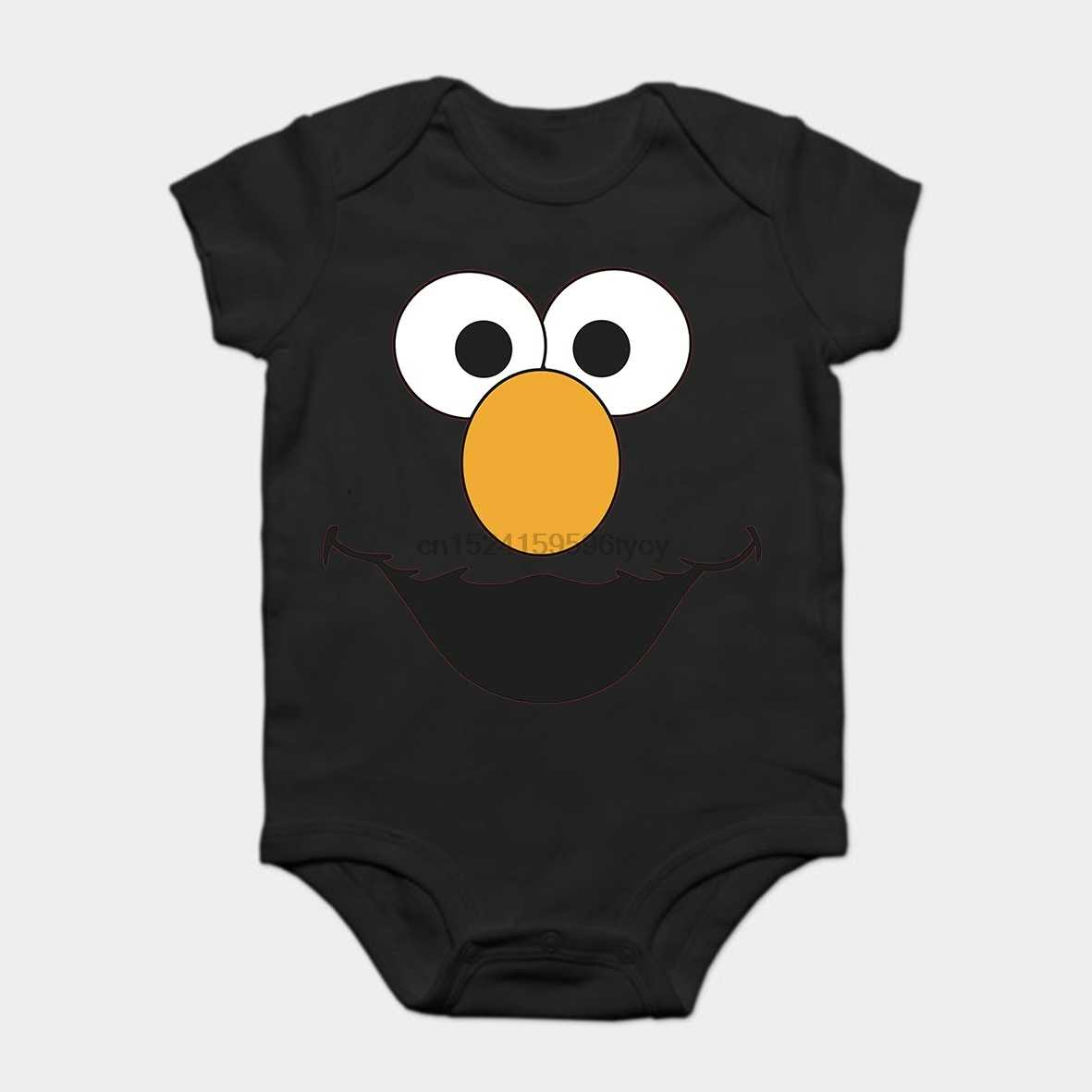 eceae591a Detail Feedback Questions about Baby Onesie Baby Bodysuits kid t shirt  Funny white Black tee Adult Show Sesame Street Elmo Smiling Face Red on ...