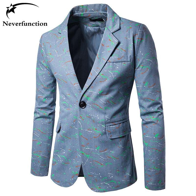 2017 New Blazer Männer Anzug Persönlichkeit Gedruckt Slim Fit Homme Blazer Männer Beiläufigen Geschäfts Mode Print Kleid Blazer Masculino