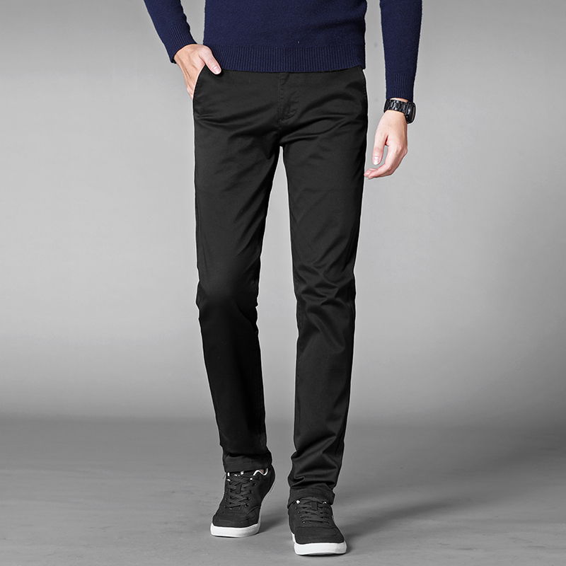 4 Colors Casual Pants Men Classic Style 2019 New Business Elastic Cotton Slim Fit Trousers Male 4 Colors Casual Pants Men Classic Style 2019 New Business Elastic Cotton Slim Fit Trousers Male Gray Khaki Plus Size 42 44 46