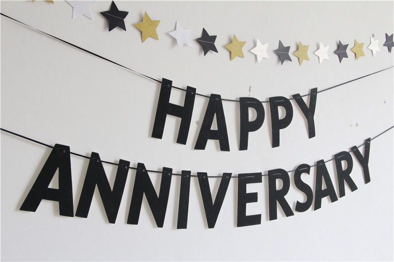 happy anniversary banners anniversary party decorations black