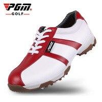 נשים נעלי ספורט חיצוני עמיד למים נגד החלקה נוחה עיצוב פטנט לנשימה נעלי גולף עור השכבה הראשונה אחיזה טובה