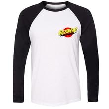 Men stree Style Cotton Long Sleeve Fashion Bazinga Big Bang Theory Sheldon Cooper Design T-shirts Gifts for Boy