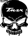 Motorbike tank Skull Decals Stickers For TMAX 2012 2013 2014 2015 Tank Stickers 7 colors