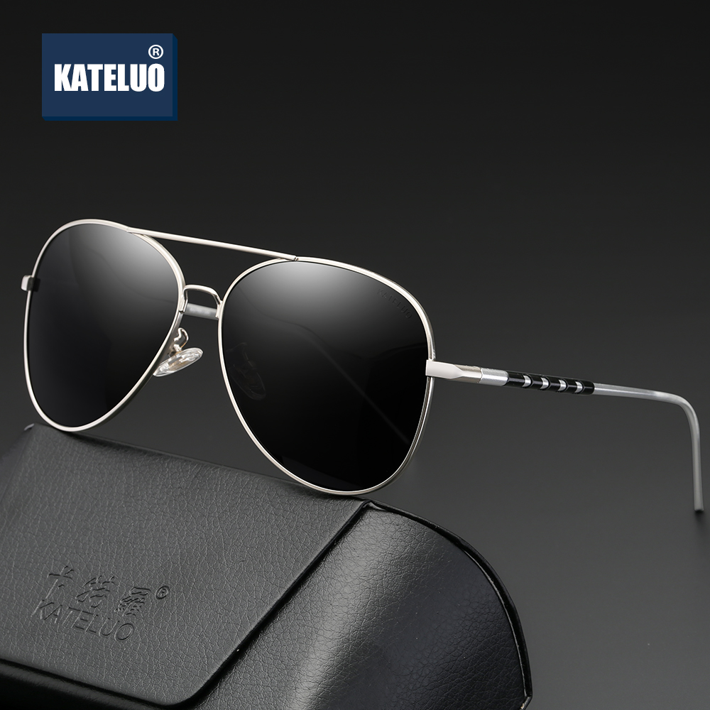 KATELUO Brand Classic Mens Aluminum magnesium Sunglasses Polarized Lens Male UV400 Sun Glasses For Men Eyewear Accessories 6606