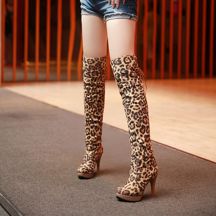 Sexy lace over knee boots women's Roman style boots children's high heels women's long boots winter thigh high boots