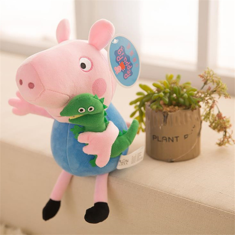 25 CM Anime Peppa Pig George Peppa Family Plush Toys Baby Pet Doll Soft Stuffed Toys Birthday Gifts For Children 2