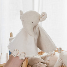 Baby Newborn Soothing Towel Biological Animal Hand Puppet Comforting Doll Elephant Bear Rabbit Appease Sleeping jjovce 6 style newborn baby appease towel grasping soft comforting doll infant toys baby hand towel rattle toys 20