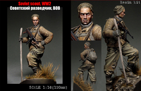 Scale Models 1/ 16 120mm Soviet Scout Soldier WW2 120mm figure Historical WWII Resin Model Free Shipping