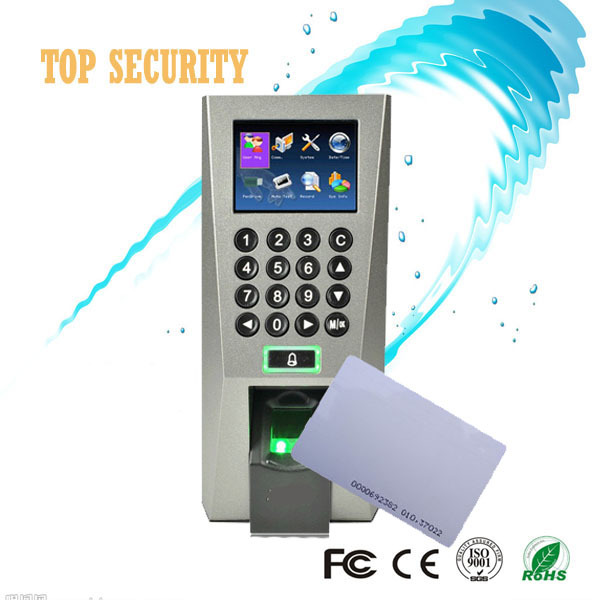 Biometric fingerprint and RFID card access control with keypad TCP/IP standalone door control time attendance F18