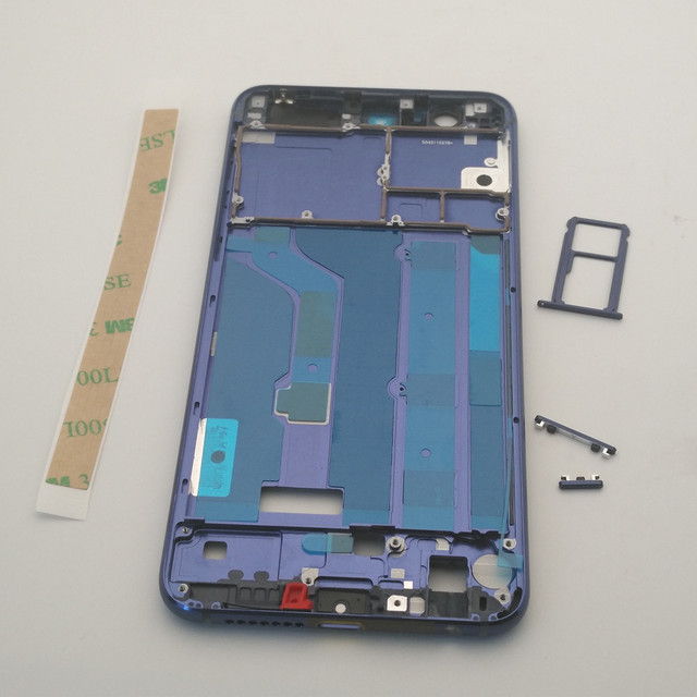Huawei 명예를위한 ESC 8 중간 프레임 하우징 플레이트 Huawei 명예를위한 베젤 커버 케이스 8 프레임 + sim 카드 슬롯 홀더 + 사이드 버튼