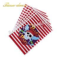 500pcs Lot Pirate Theme Party Gift Bag Party Decoration Plastic Candy Bag Loot Bag For Kids