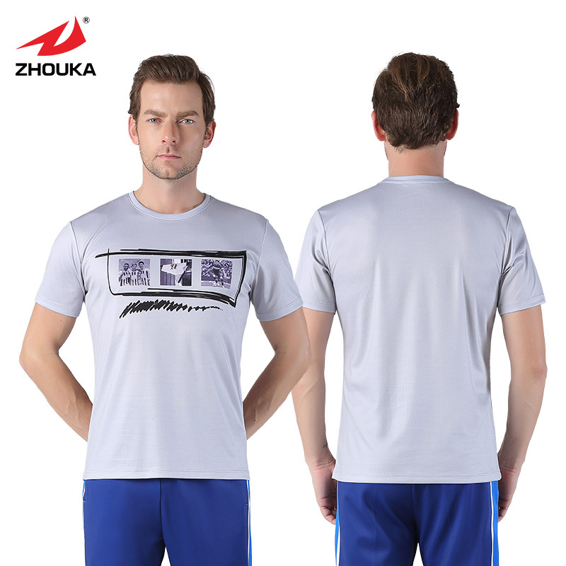 f6f94b9c4be Wholesale Soccer Football Shirt t Shirts Sports Tops Short-Sleeve Quick Dry  Slim Fit O-neck Camisetas De Futbol 2019