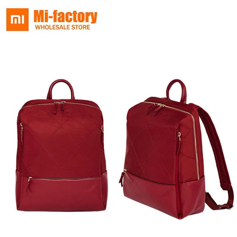 Original Xiaomi 90 Points Fashion Lingge Women Girl Backpack Office Lady Street Bag Large Capacity gemqz d1813 quartz points large cluster plate mangano spots