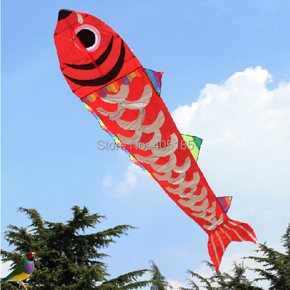 Free Shipping Outdoor Fun Sports 4m Power Fish Kite Factory Outlet