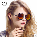 Chashma Hot New Retro Round Metal Sunglasses Female Fashion Sunshades UV Bright Reflective Sunglasses