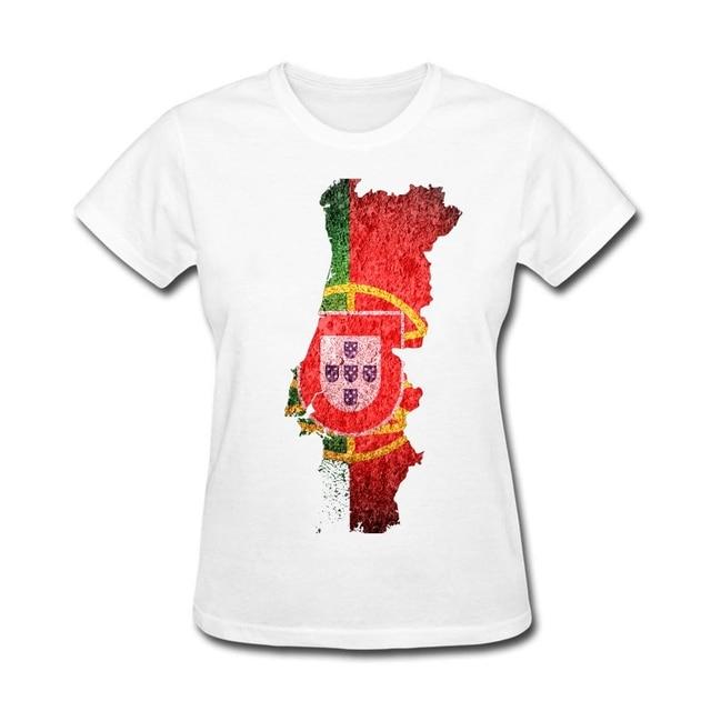 dc892bca Portugal Flag Map Womens Japanese t-shirt the lovers' day Get Printed  tshirts Female Garment XS-XL