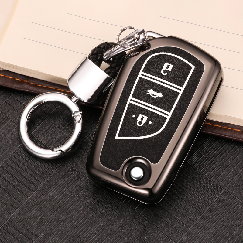 Zinc alloy+Luminous Car Remote <font><b>Key</b></font> <font><b>Case</b></font> Cover For <font><b>Toyota</b></font> Corolla Camry <font><b>RAV4</b></font> Aygo CHR Avensis Yaris Corolla Prius Crown <font><b>2014</b></font> 2015 image