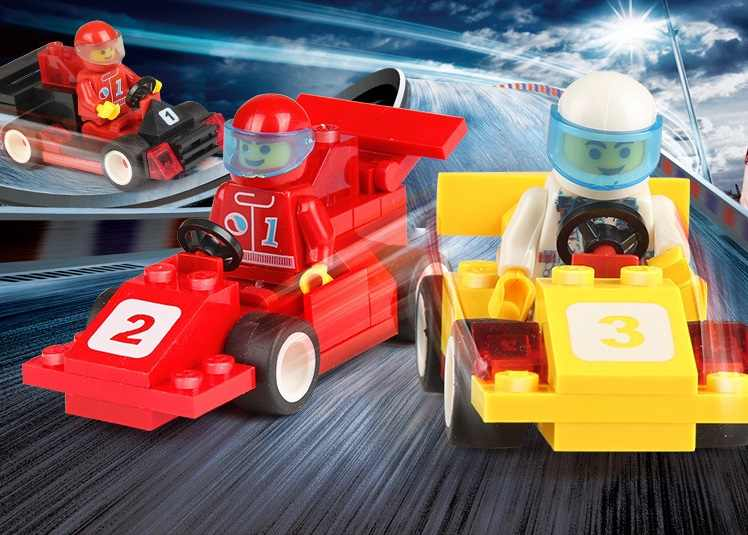 Venta única motocicleta carrera Minesweeping coche policía camión lanzador de proyectiles DIY juguetes bloques de construcción juguetes para niños juguetes playmobile regalos