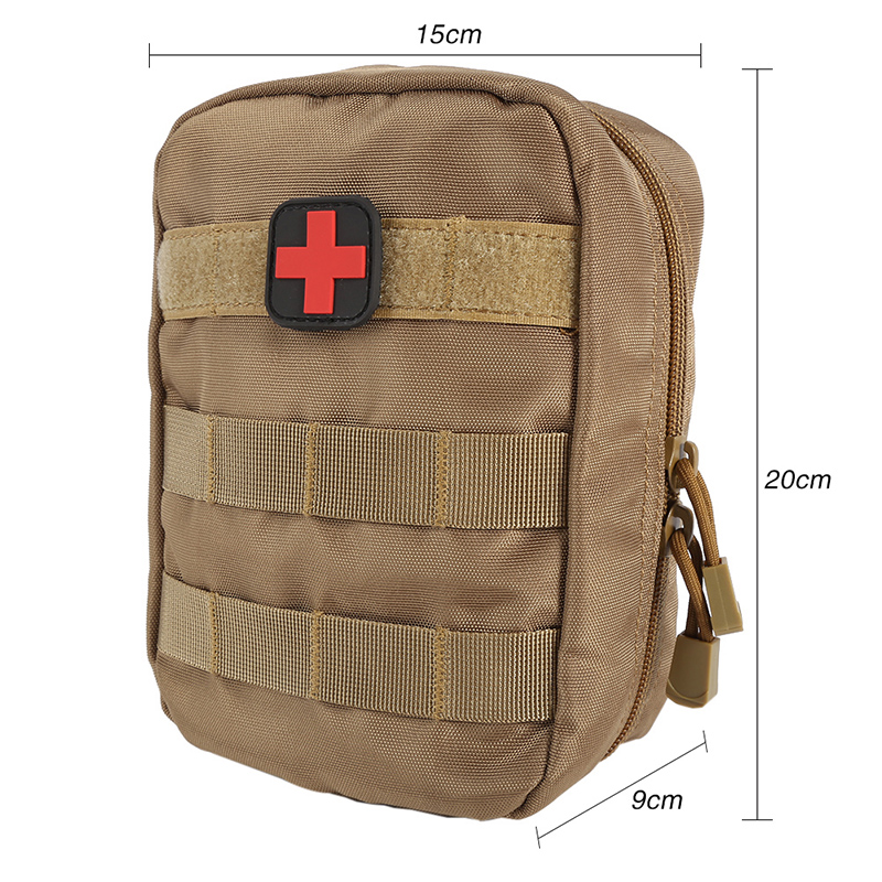 EMT Medical First Aid IFAK Bag Military Pack  Outdoor MOLLE System Medical Accessory Bag Tactical  Black/Army Green/Mud color