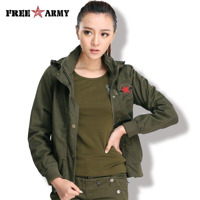 Hot Sale Freearmy Brand Spring Jacket Women Coat Mandarin Collar