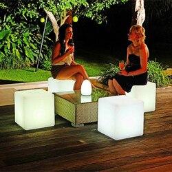 40*40*40CM RGB LED Kubus Kruk Licht Oplaadbare Afstandsbediening Kleurrijke LED Cubic Seat Lampen voor thuis Bar Tuin Wedding Party