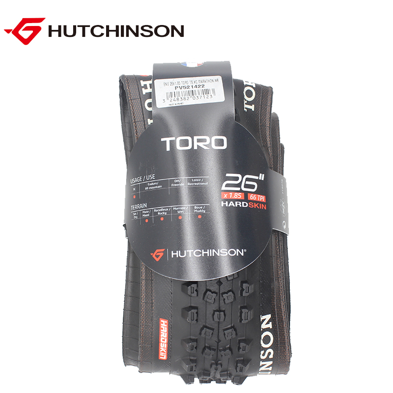 HUTCHINSON bicycle tires 26 26*1.85 66TPI 515g anti puncture MTB mountain bike tire off-road folding tyres France original TORO 26 bike wheel with tire and tube for mtb mountain bike road bike bicycle quick release hub spoke reflector
