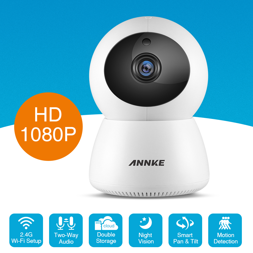 ANNKE 1080P HD IP Wireless Video Security Camera Two Way Audio Mini Home Baby Monitor Day Night Smart WIFI Surveillance CCTV CamANNKE 1080P HD IP Wireless Video Security Camera Two Way Audio Mini Home Baby Monitor Day Night Smart WIFI Surveillance CCTV Cam