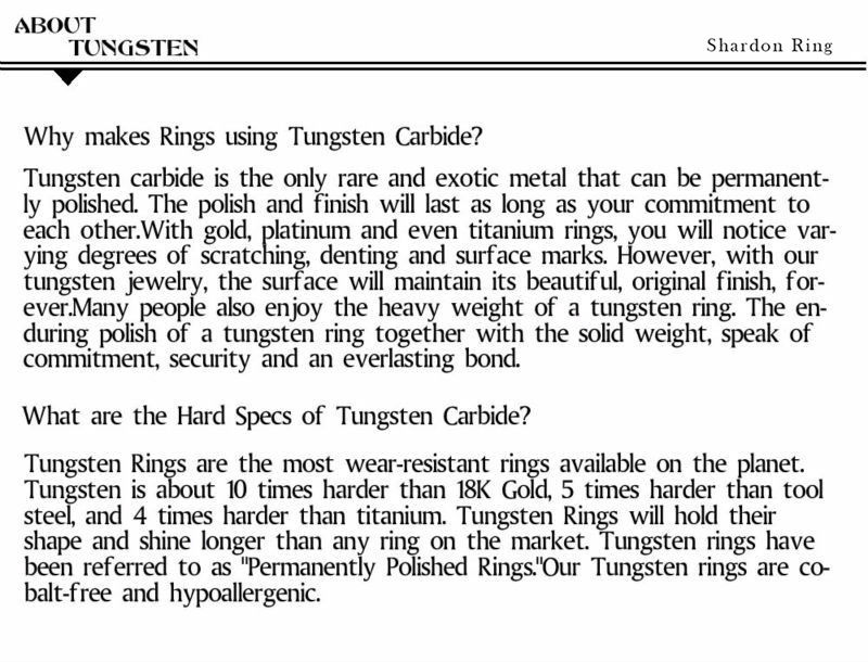 about tungsten